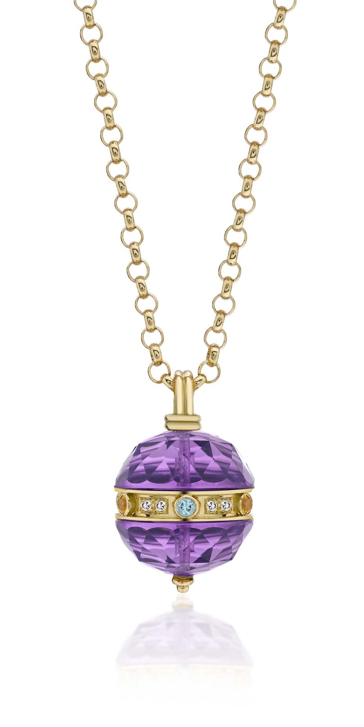 Kiki McDonough large Opera amethyst necklace