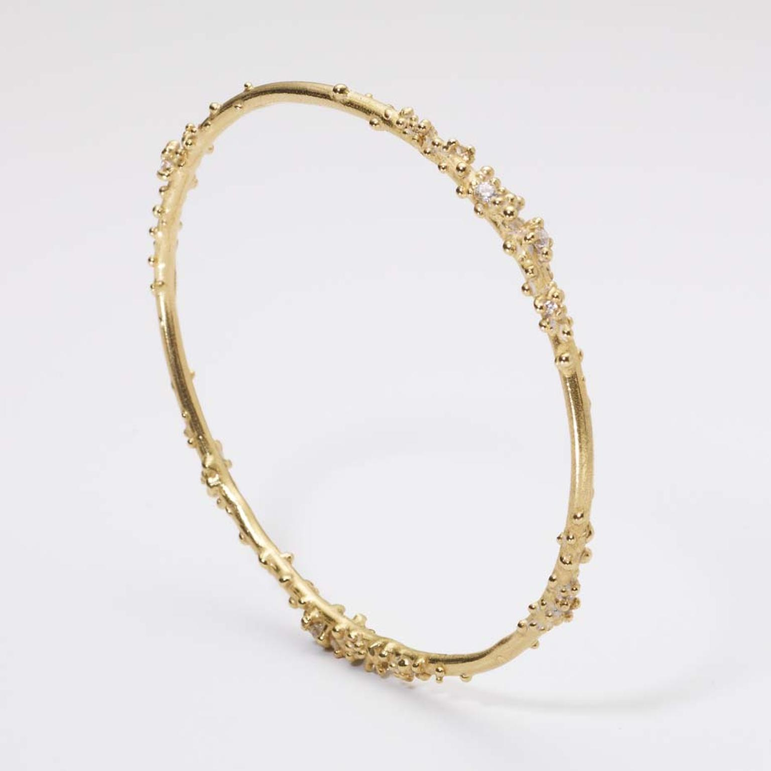 Ruth Tomlinson encrusted gold bangle