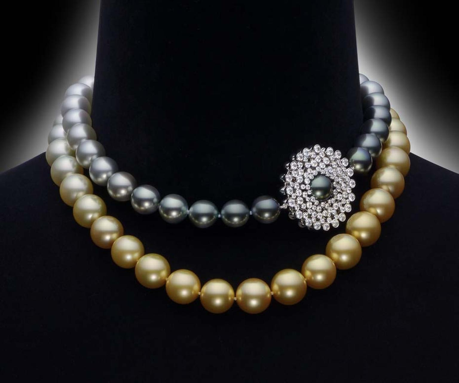 Mikimoto's Sun & Clouds necklace is designed so that it can be doubled up as a choker or worn sautoir-style