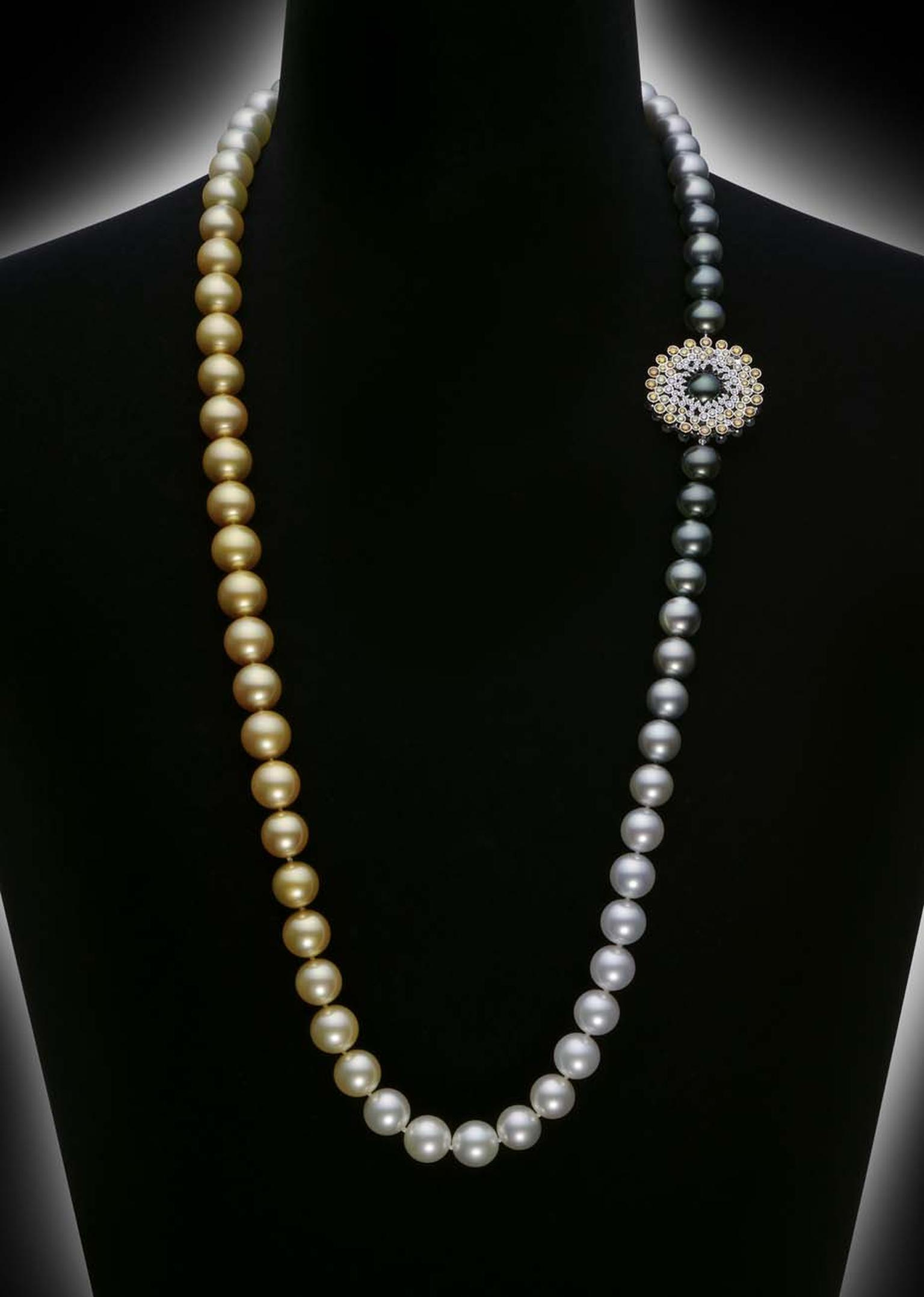 Mikimoto's Sun & Clouds pearl necklace will be revealed exclusively at Baselworld 2014 with a pair of matching Sun & Clouds earrings