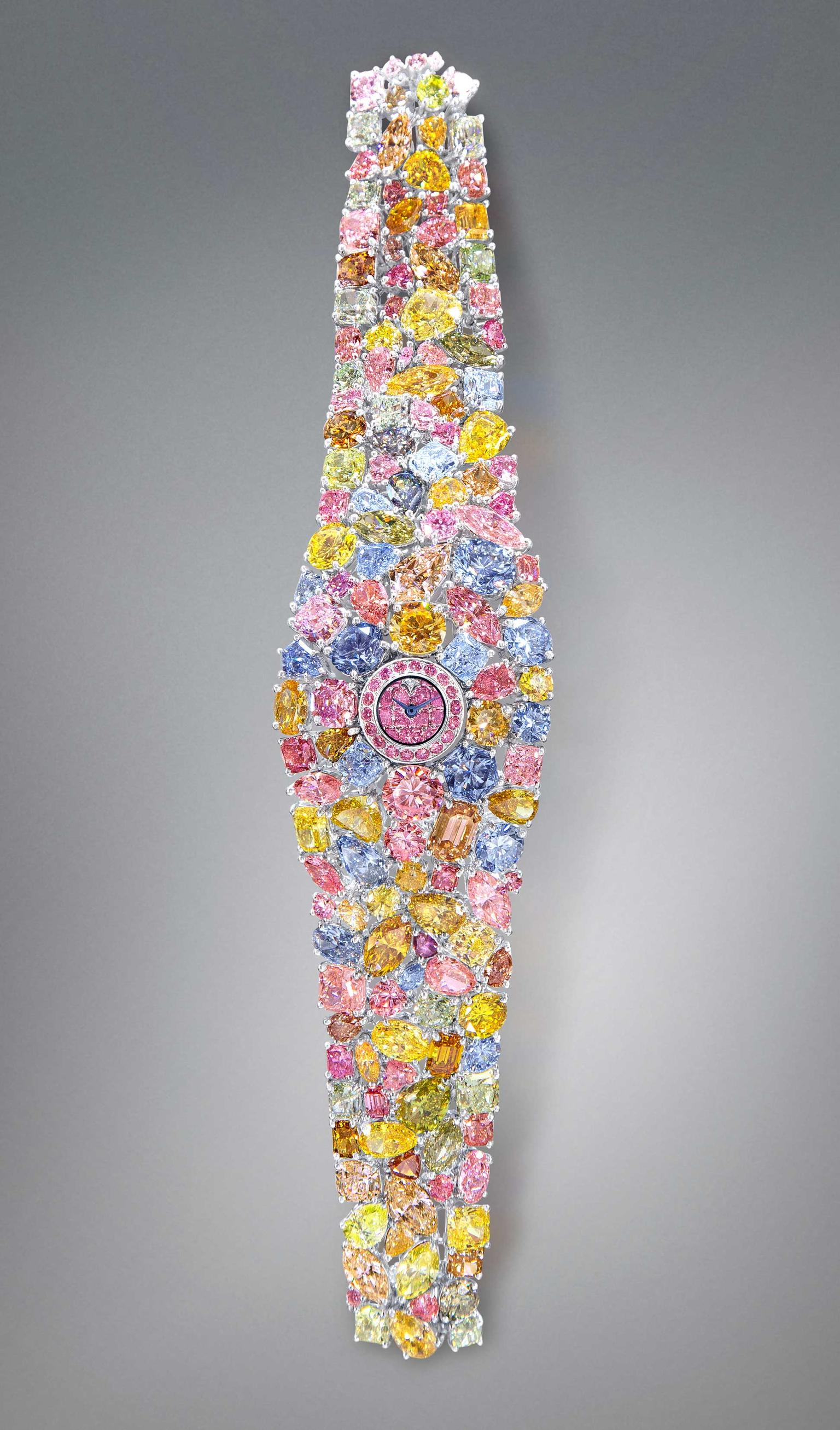 Graff Diamonds unveils its $55 million dollar Hallucination watch during the opening day of Baselworld 2014.