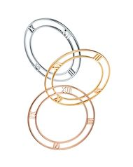 New Tiffany & Co. Atlas II bracelets are available in yellow, rose or white gold as well as sterling silver and titanium