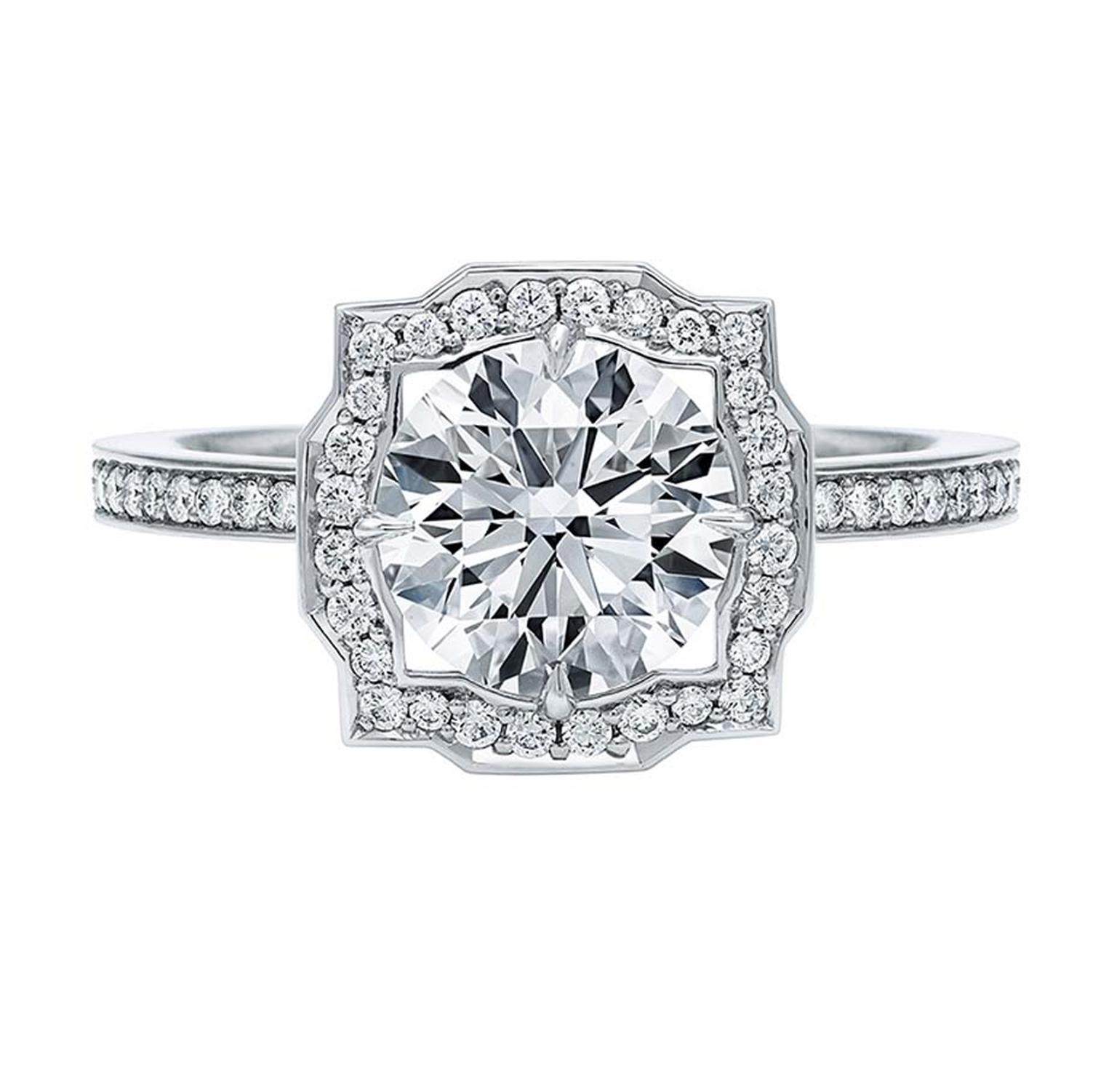 Harry Winston's Belle round brilliant-cut diamond engagement ring