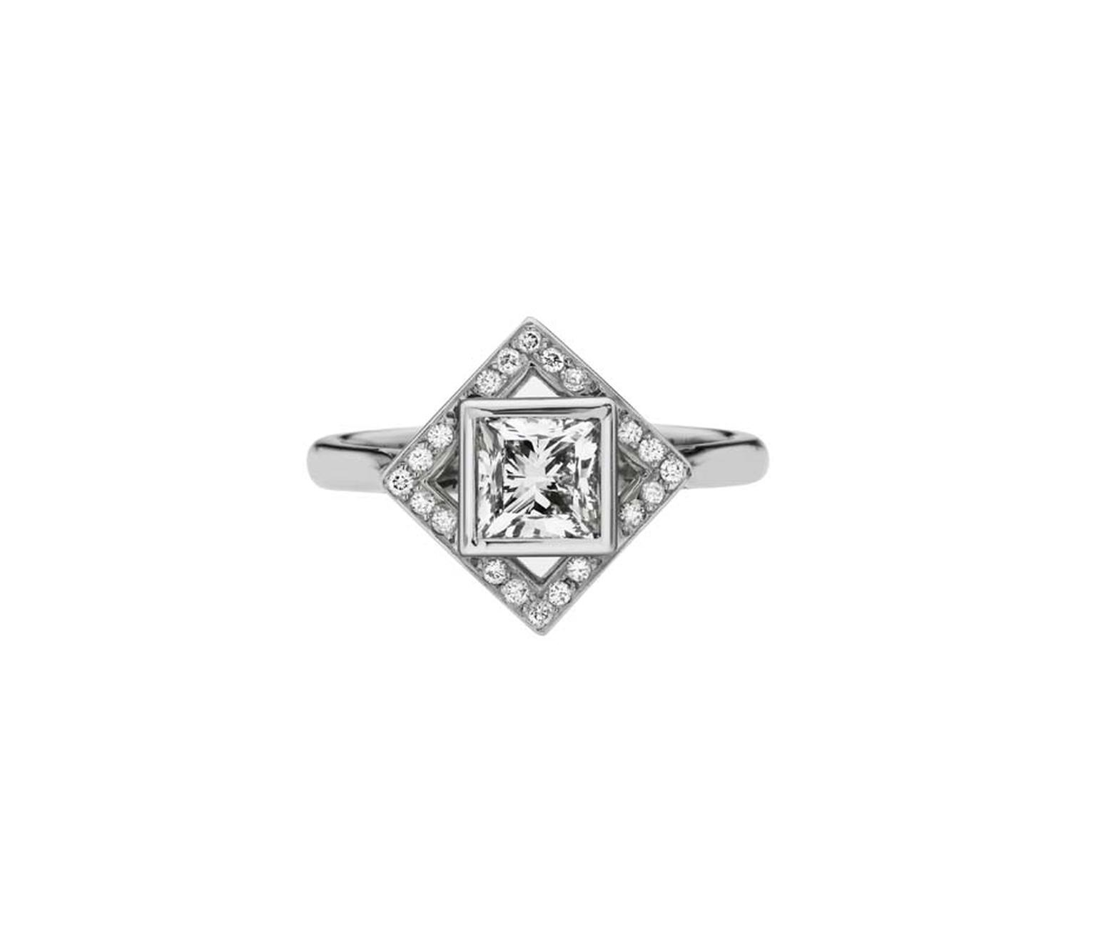 Ethan & Co princess-cut diamond ring (from £6,500).