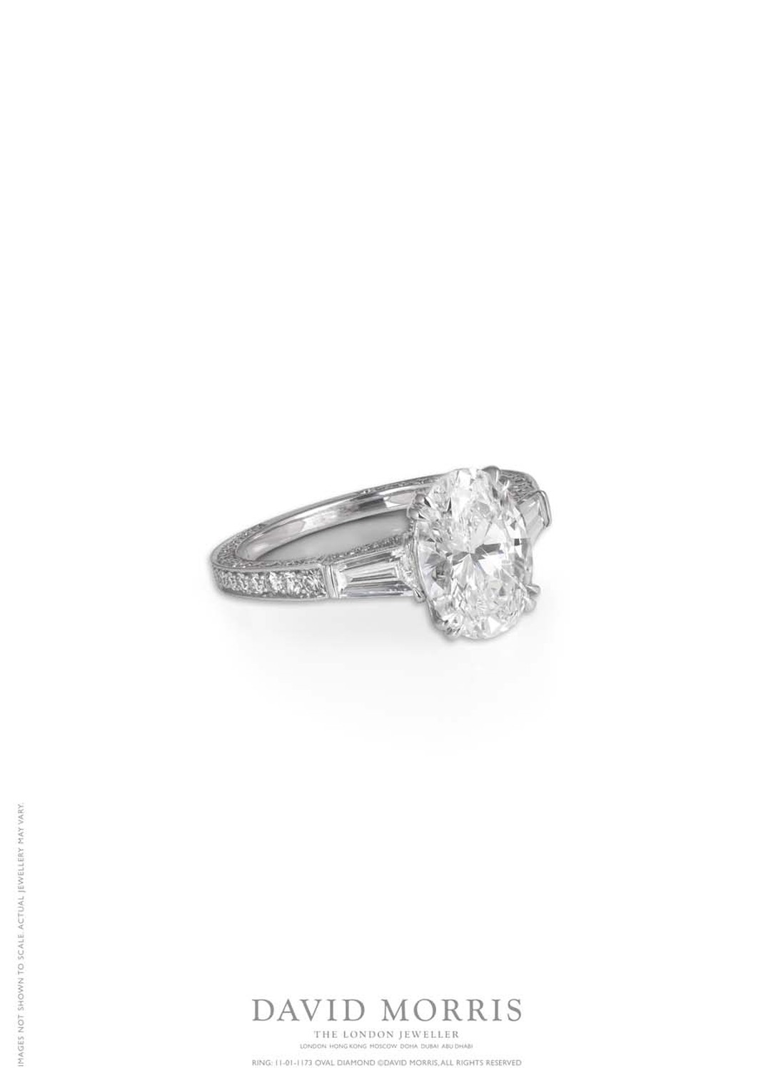 301170 events service, paired with David Morris' oval and baguette-cut diamond ring (£45,000 at davidmorris.com).