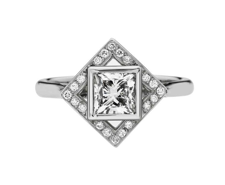 Ethan & Co princess-cut diamond engagement ring