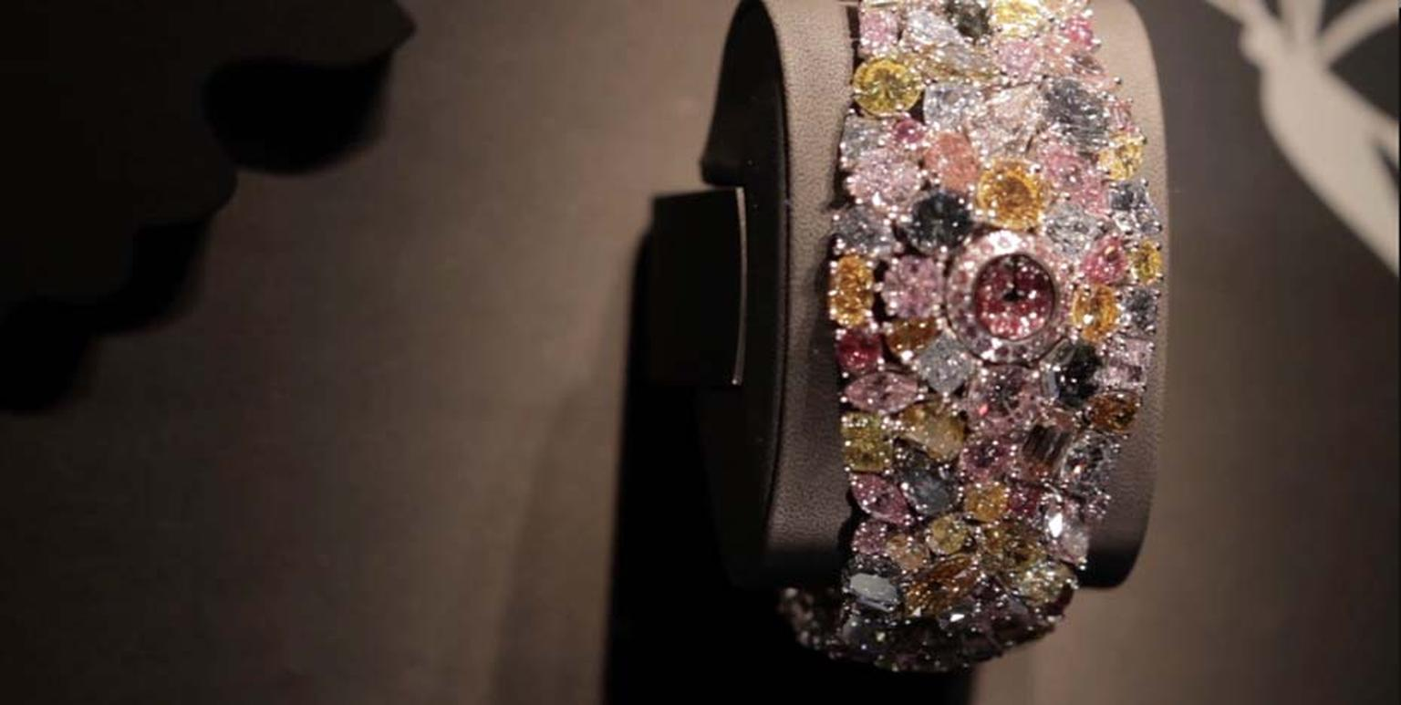 The Graff Diamonds $55 million dollar Hallucination watch that was unveiled on the opening day of Baselworld 2014
