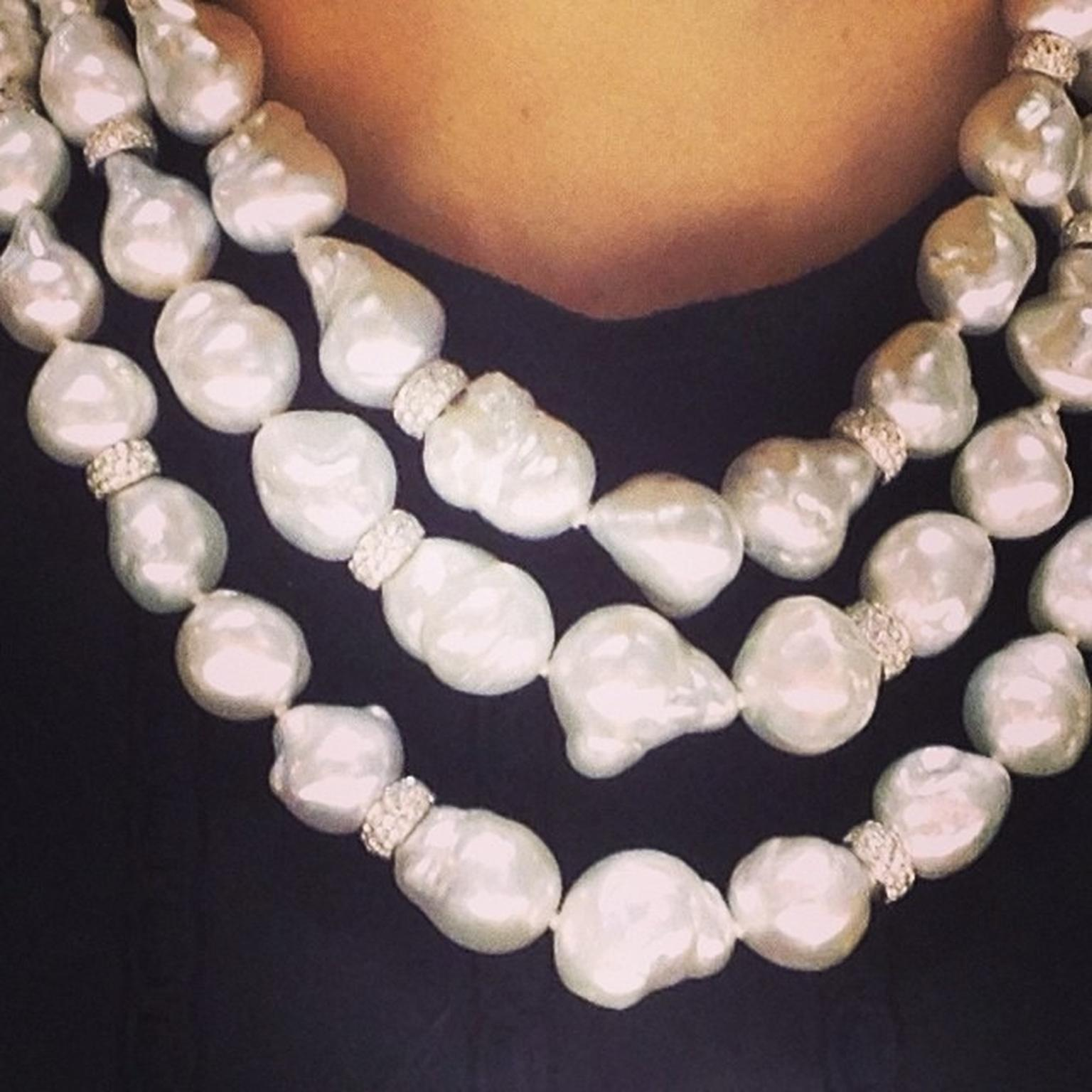 Yoko London baroque pearl necklace