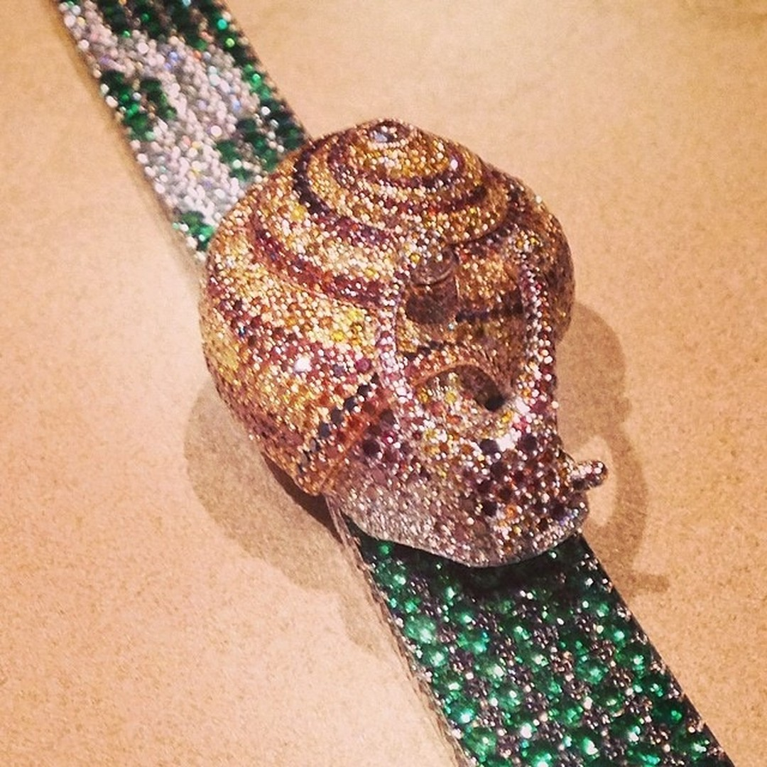 Chopard snail watch, from the Animal World collection