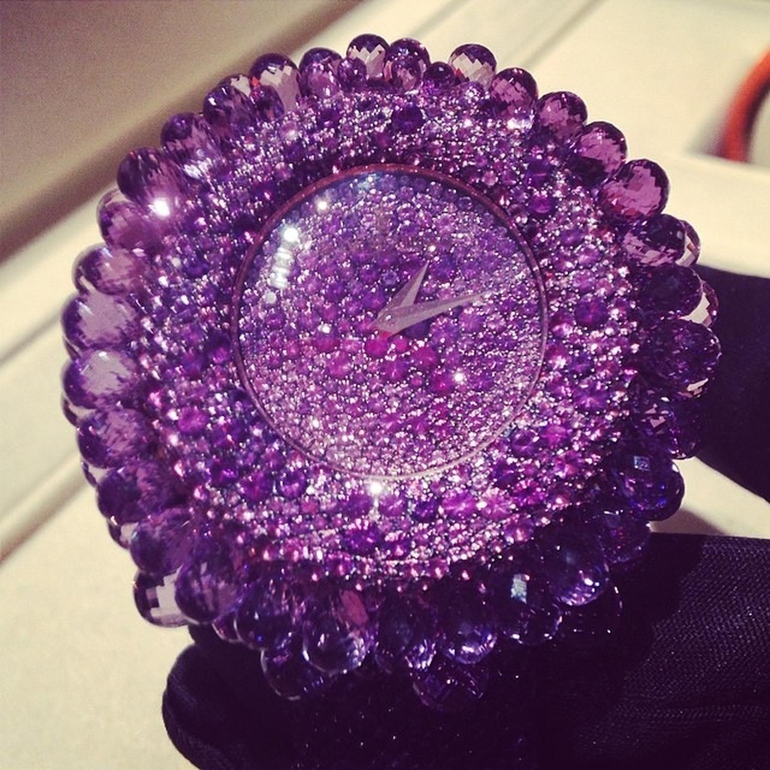 De Grisogono Grappoli amethyst watch
