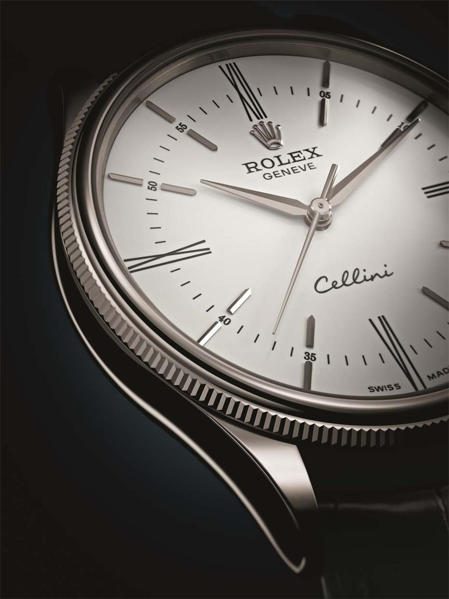 Each Rolex Cellini watch features a 'double bezel' that is part-domed and part-fluted