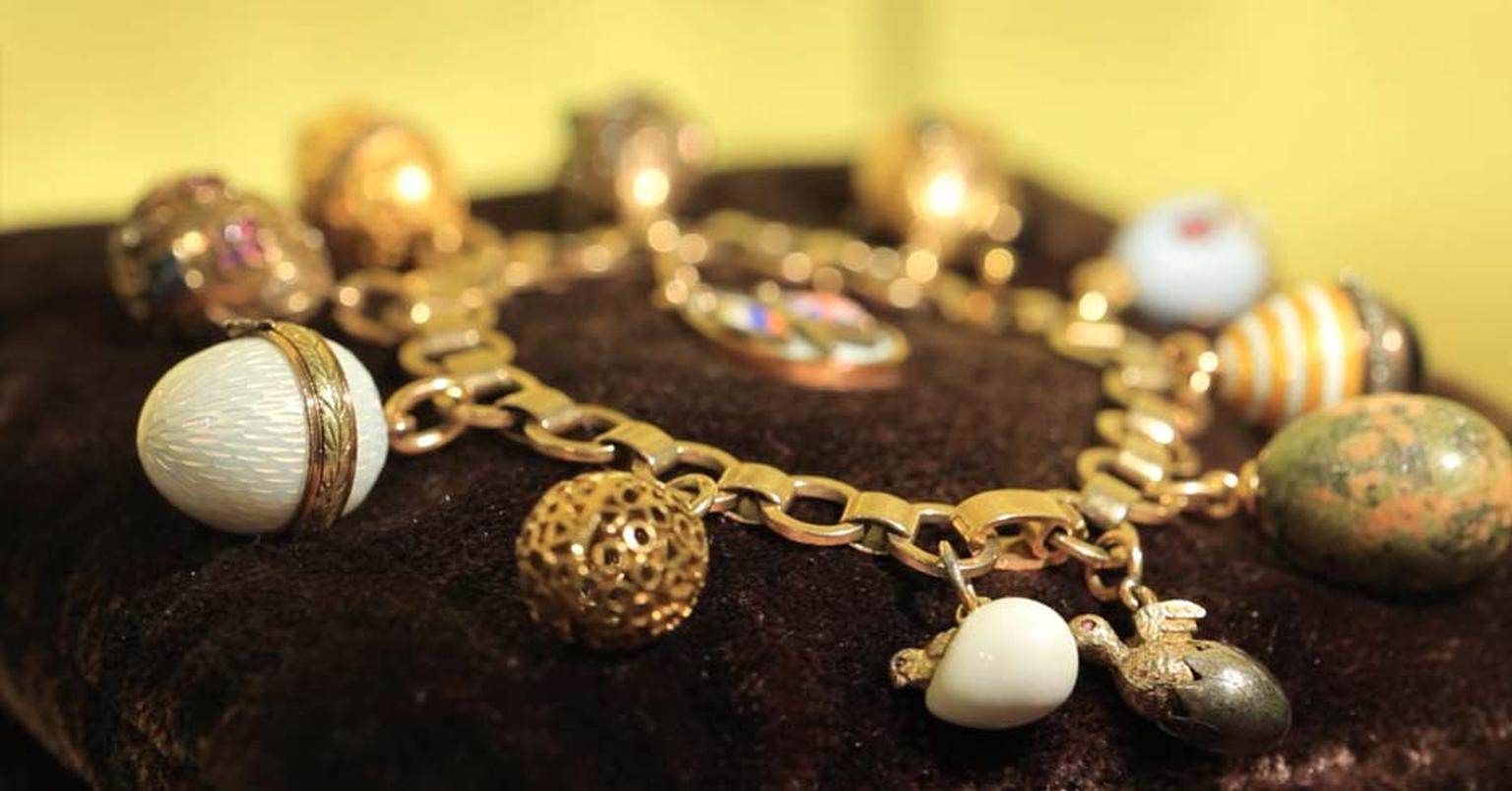 Fabergé charm bracelets available at Harrods.