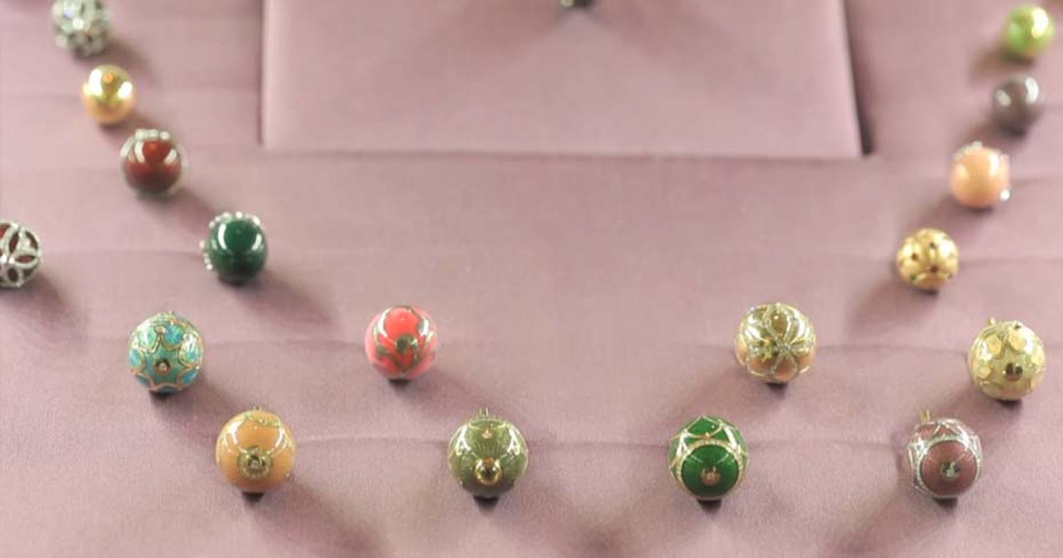 The Fabergé egg pendants available at the 'Egg Bar' at Harrods can be personalised on the spot with your own message