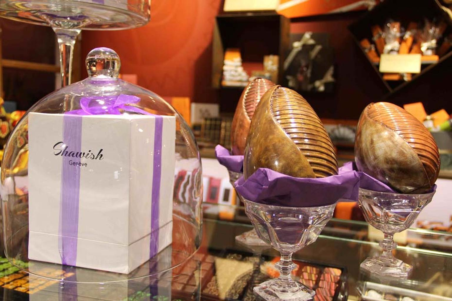 The Shawish Easter Surprise at Harrods is the ultimate in edible luxury: a chocolate Easter egg containing a signature jewel from the Swiss jeweller