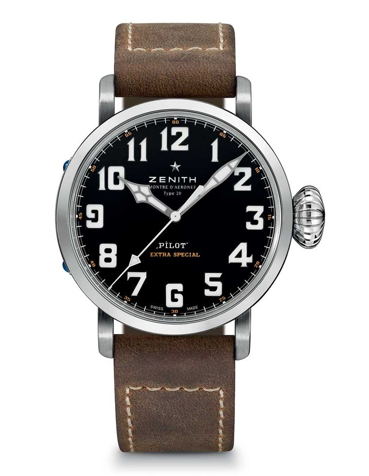 Zenith's latest Montre d'Aeronef Type 20, the 'Extra Special'  - at 45mm, very wearable - happens to be one of the first crop of Zenith watches not to feature a Zenith movement
