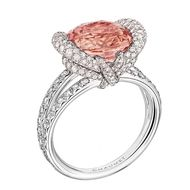 Chaumet Liens padparadscha ring in white gold