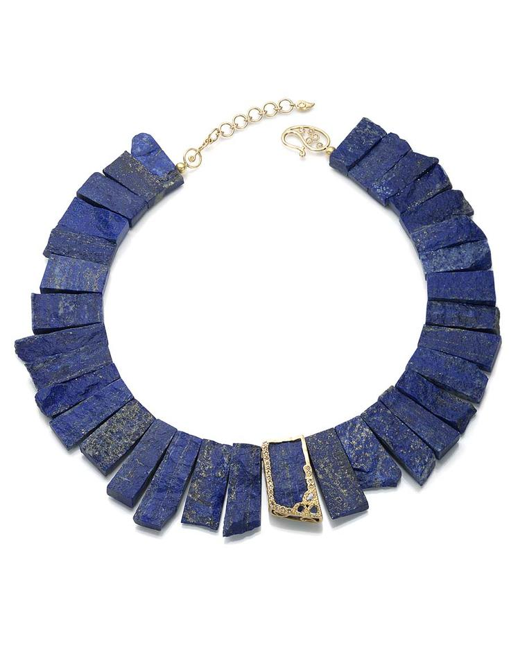 Coomi gold and lapis lazuli necklace.
