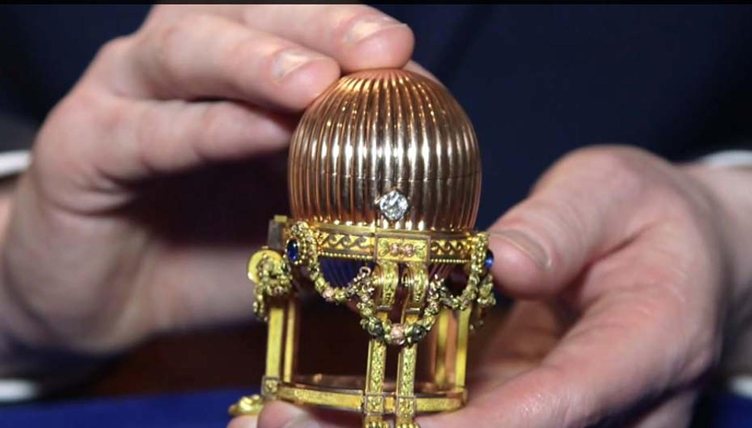 Shaped as a hen's egg, the Imperial Fabergé Easter Egg is an expression of Easter and the resurrection of Christ.