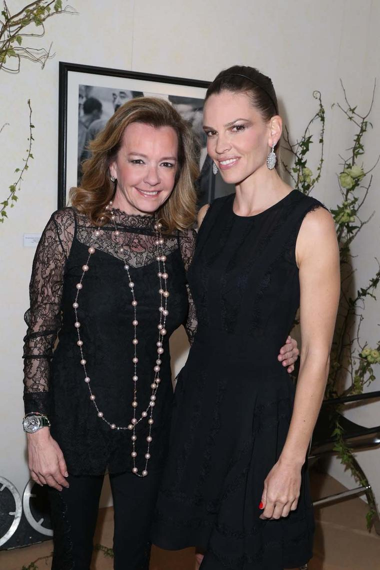 Hilary Swank and Caroline Scheufele were present when the announcement took place during a cocktail party held at the Chopard boutique.