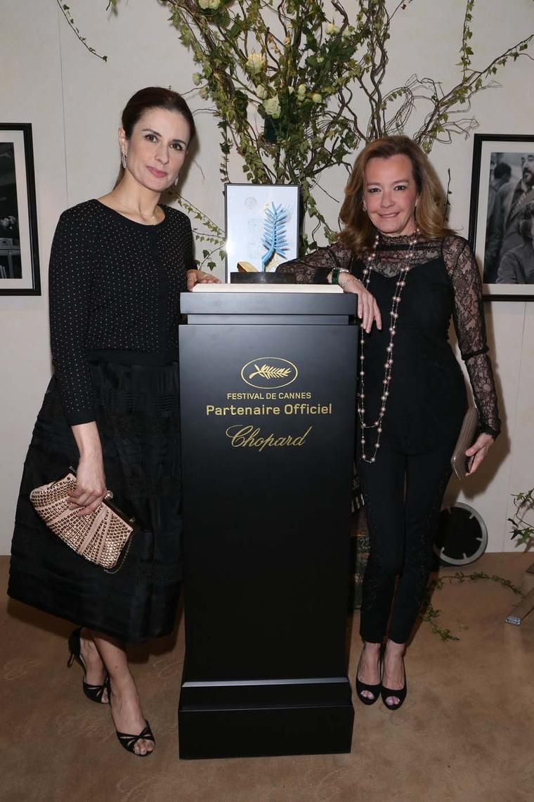 Livia Firth, founder of the Green Carpet Challenge, and Chopard's co-president, Caroline Scheufele, have worked closely together since Chopard began its work into sustainable and ethical jewellery last year