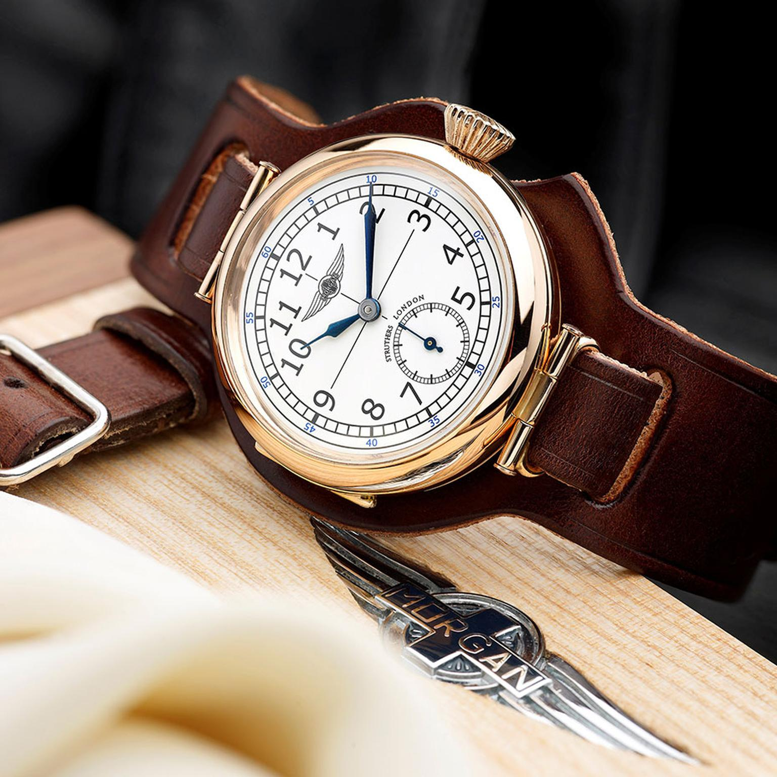 Struthers London for Morgan watches feature two limited edition timepieces, inspired by the traditional trench style cars of the early 1900's.