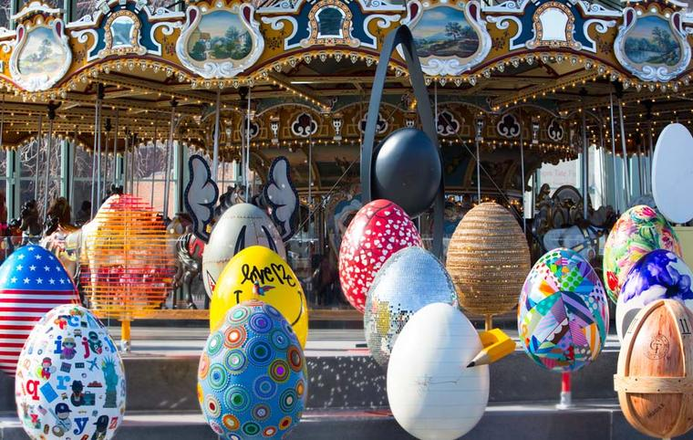 The Fabergé Big Egg Hunt will see almost 300 giant egg sculptures dotted throughout the city's five boroughs.