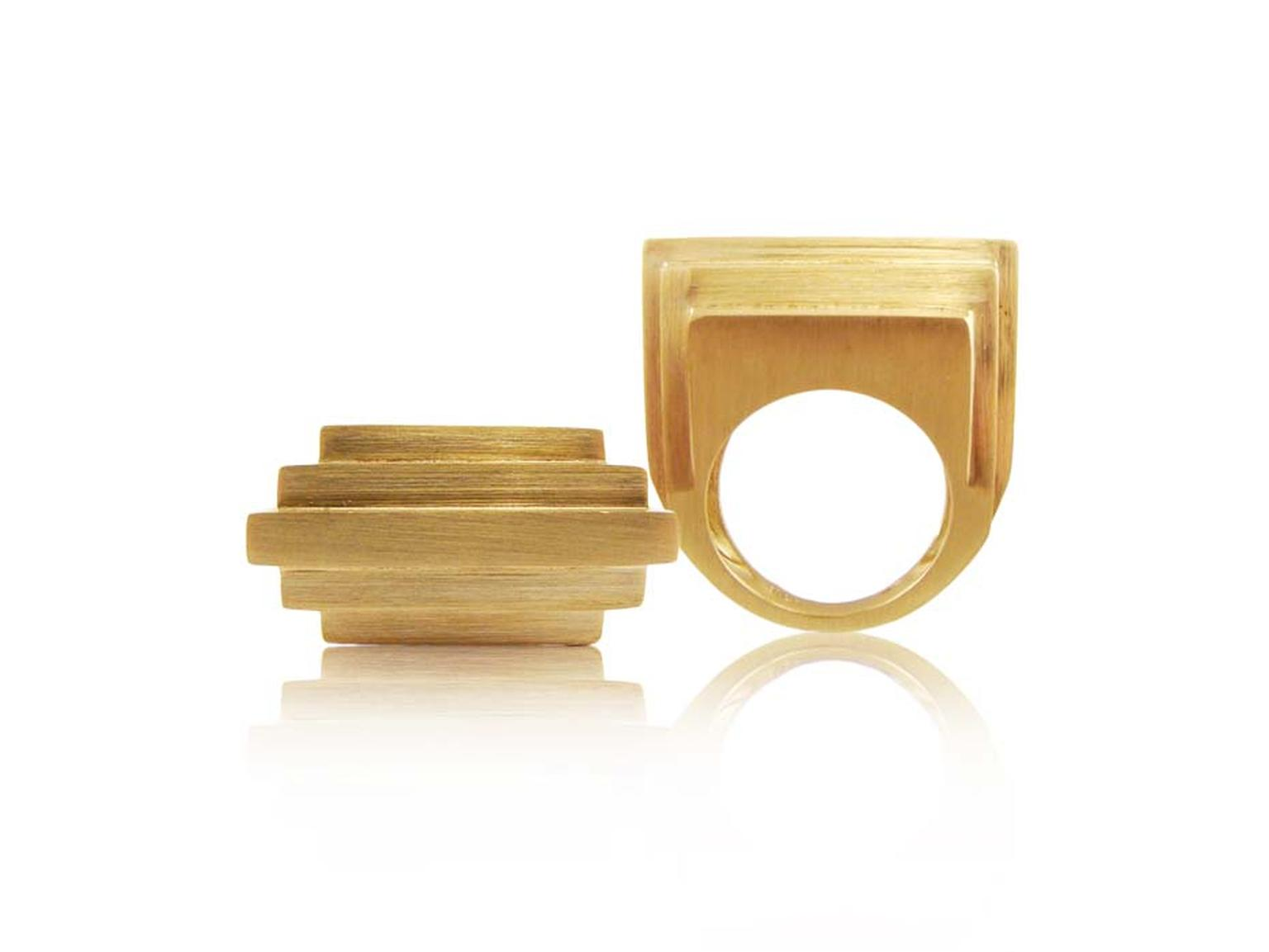 Corrado Giuspino gold sculpture ring.