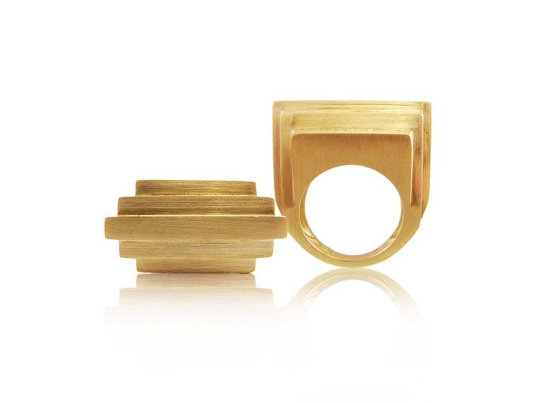 The newest jewellery collection by Corrado Giuspino: Architectural shapes pack a colourful punch