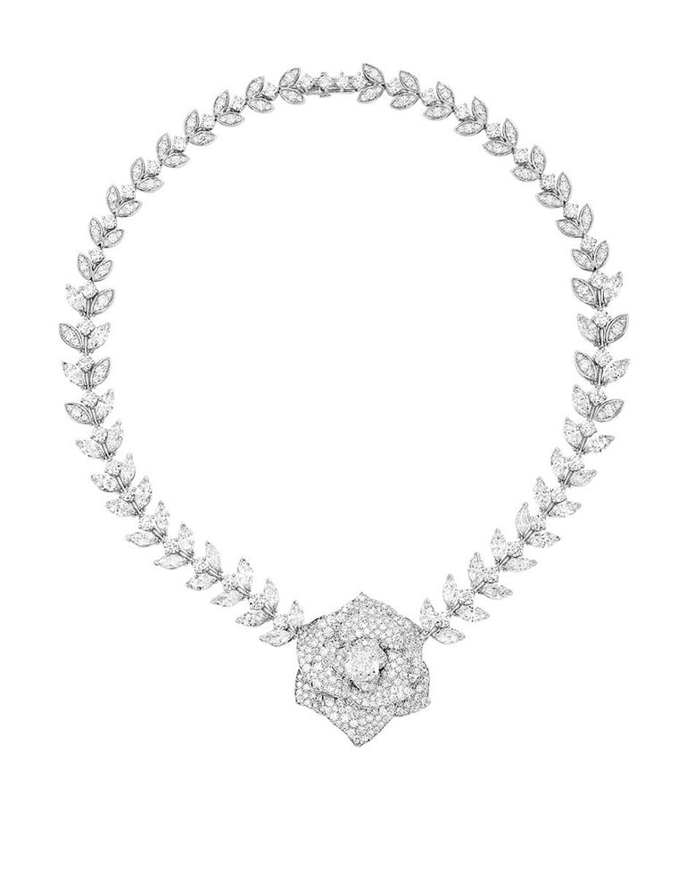 One of three sets to be revealed at the Piaget fine jewellery boutique in Harrods includes the Piaget Rose Elegance diamond high jewellery necklace.
