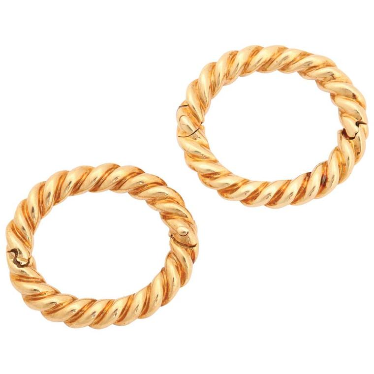 David Webb Twisted Hoop gold cufflinks ($3,250), available at 1stdibs.com. Image by: ScullyFoto.com