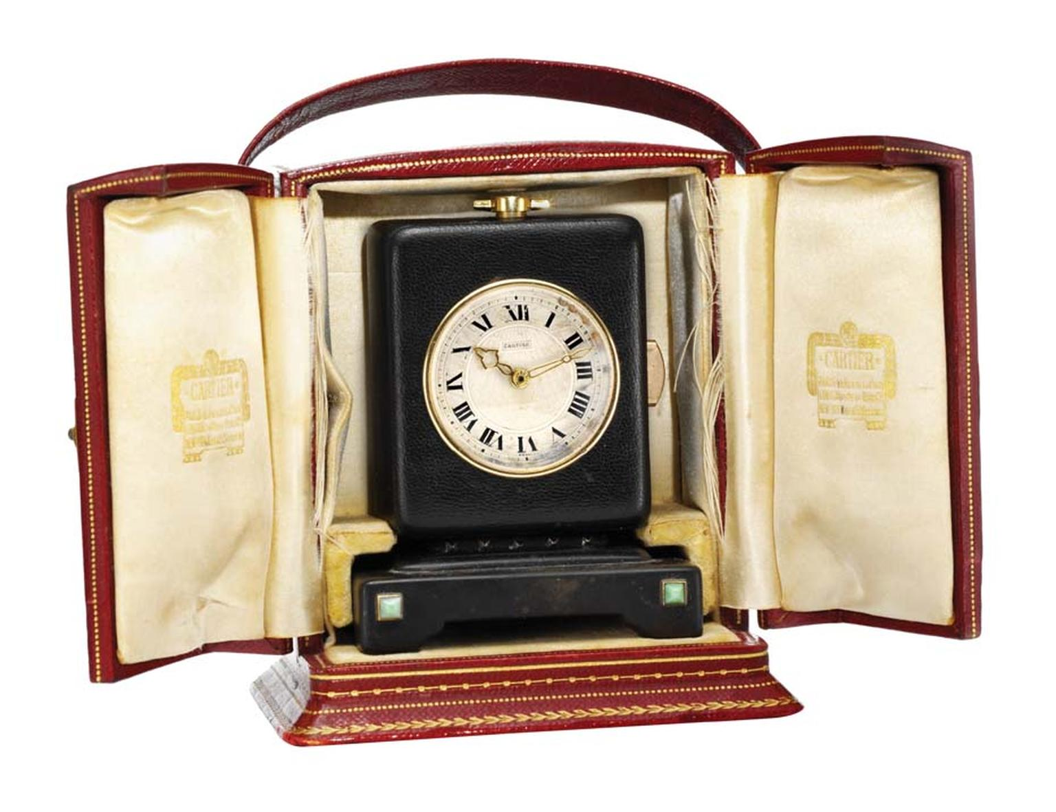 Cartier art deco keyless minute repeating desk clock ($34,000), available at 1stdibs.com. Image by: ScullyFoto.com