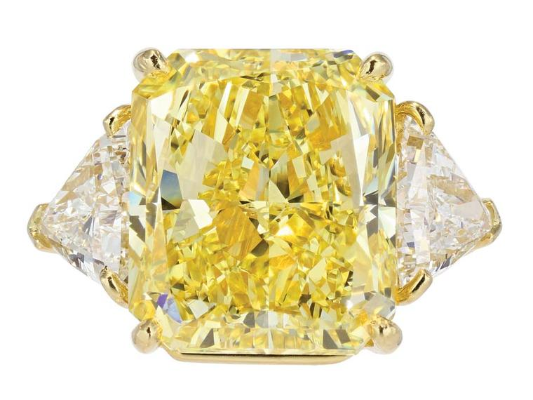 Bulgari 21.07ct fancy intense yellow diamond ring ($POA), available at 1stdibs.com. Image by: ScullyFoto.com