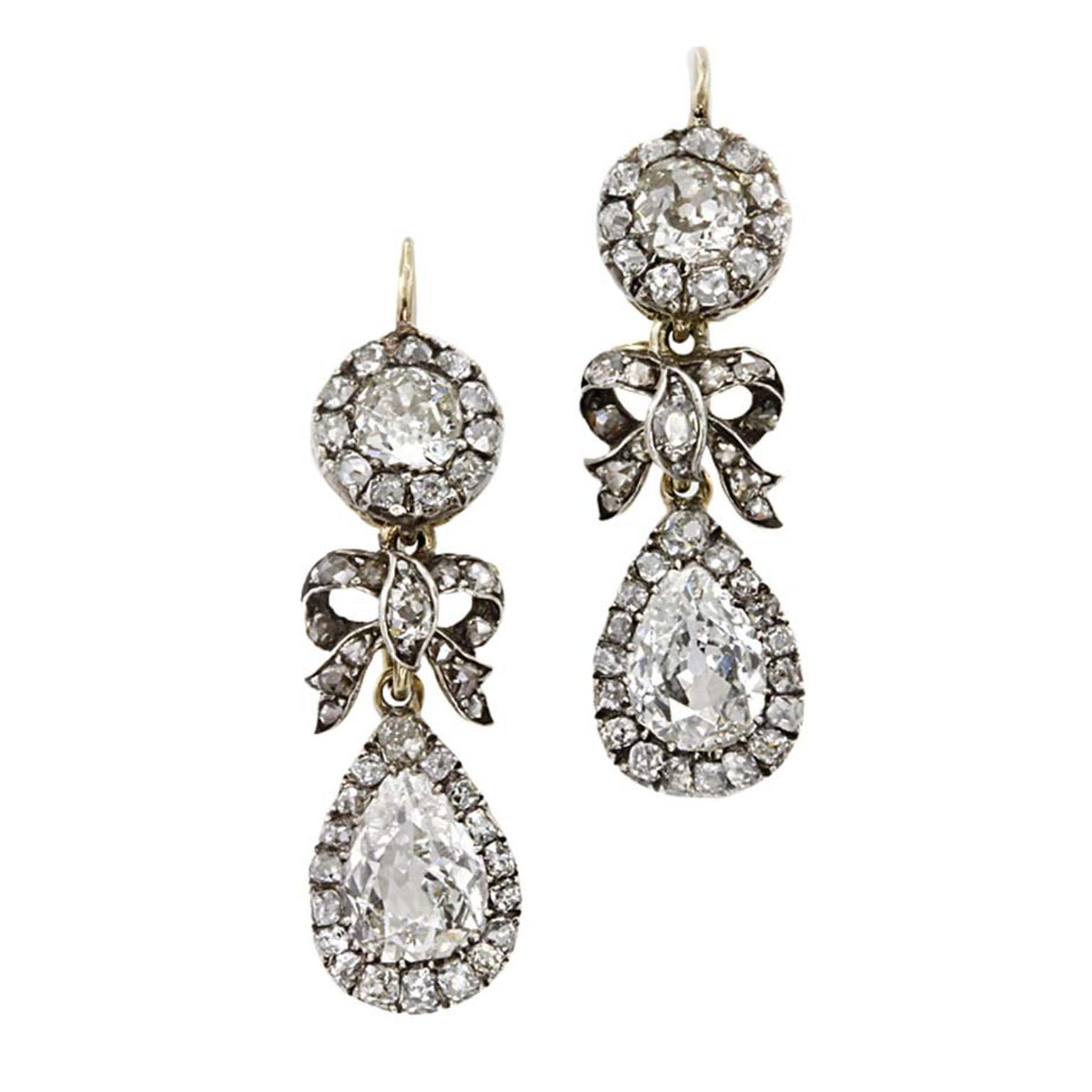 Victorian diamond drop earrings ($64,500), available at 1stdibs.com. Image by: ScullyFoto.com