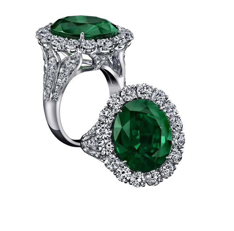 Robert Procop Exceptional Jewels collection 11.54ct Emerald Royal ring