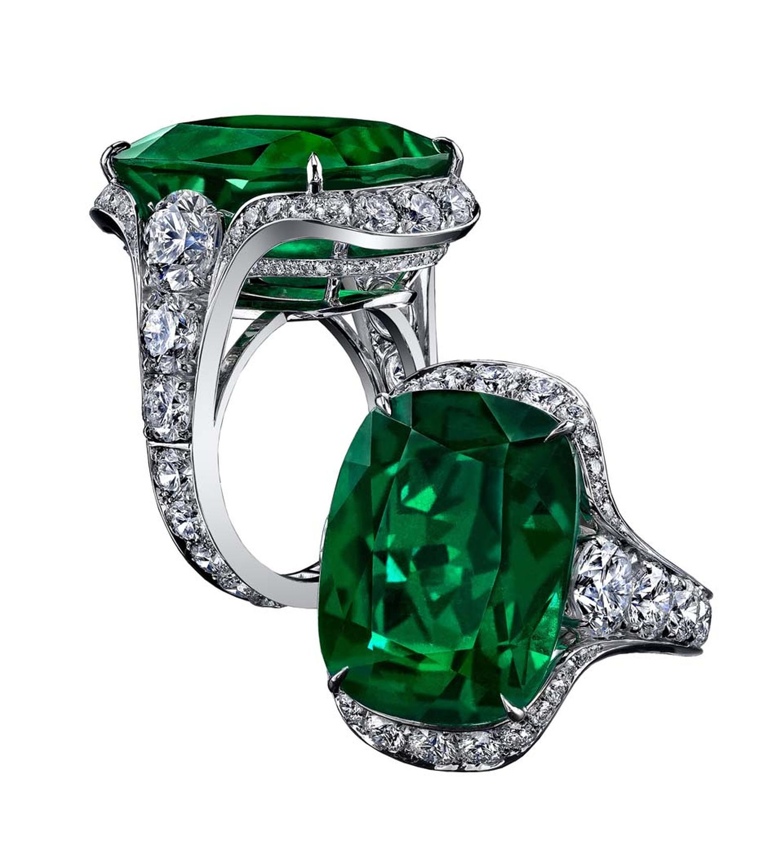 Robert Procop Exceptional Jewels collection 23.03ct Cushion Emerald ring