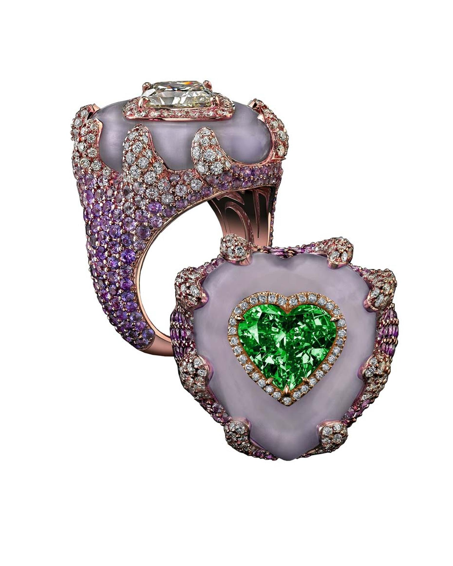 Robert Procop Exceptional Jewels collection 7.06ct Emerald Heart ring