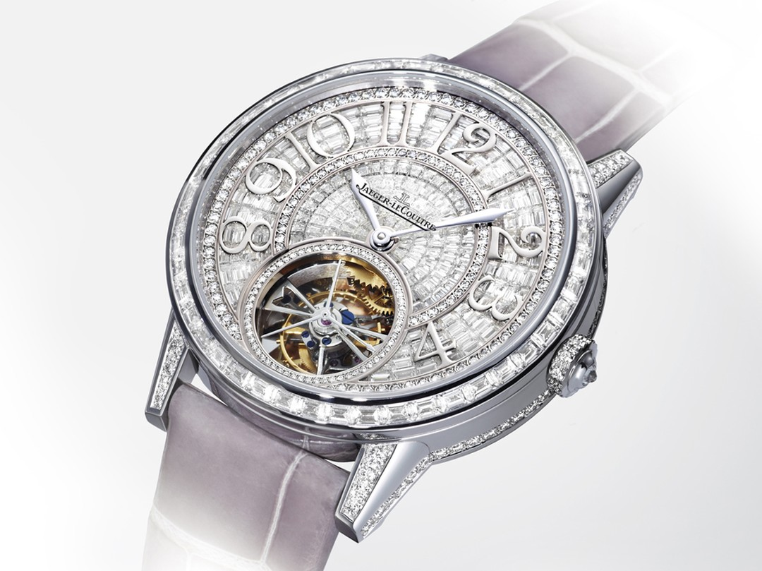 The show-stopping Jaeger-LeCoultre Rendez-Vous Tourbillon Haute Joaillerie is a marvel of gem-set mastery that matches the mechanical prowess of the movement