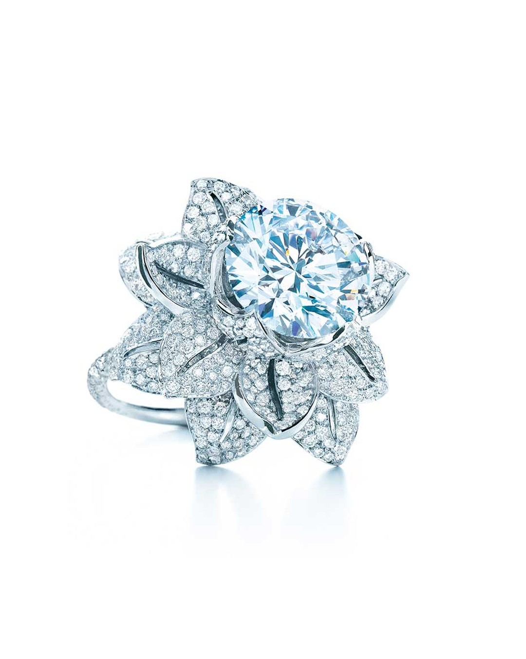 Tiffany & Co. Gatsby Collection 5.25ct diamond flower ring (£POA).