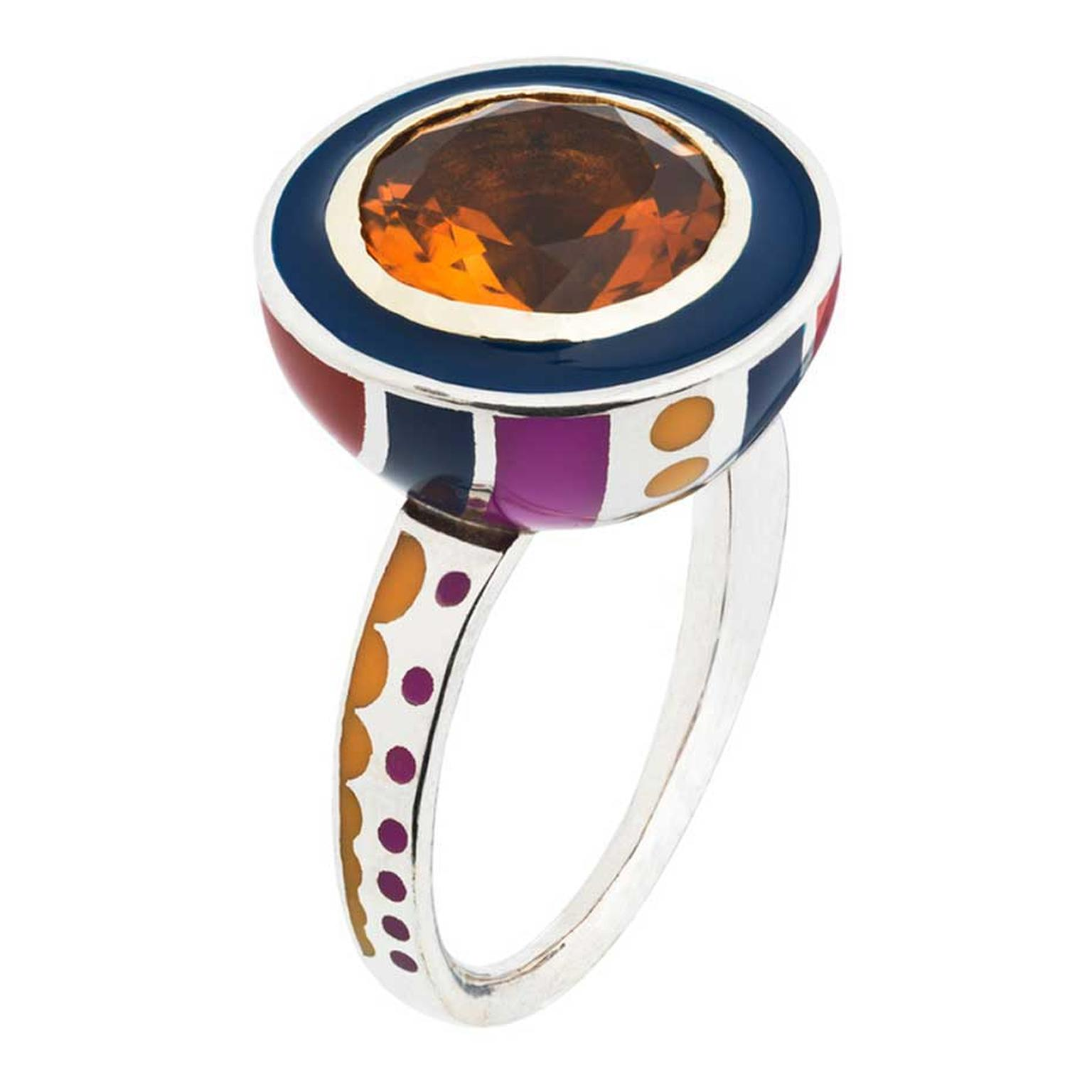 Alice Cicolini Memphis brandy citrine ring (£POA).