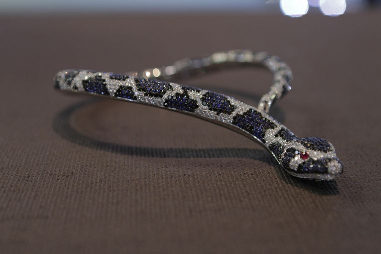 Roberto Coin's unnervingly lifelike sapphire and diamond Snake necklace