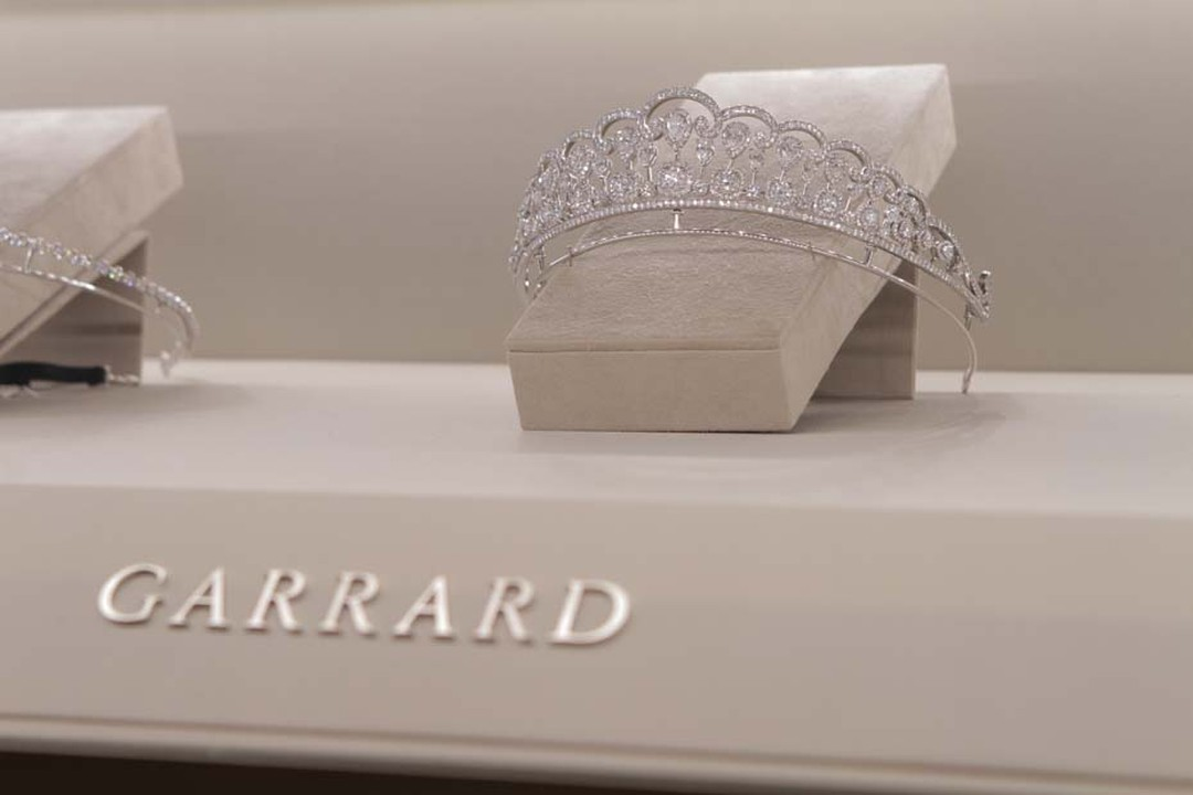 Garrard's new diamond tiara, shown for the first time at Baselworld 2014, can be transformed into a necklace and earrings