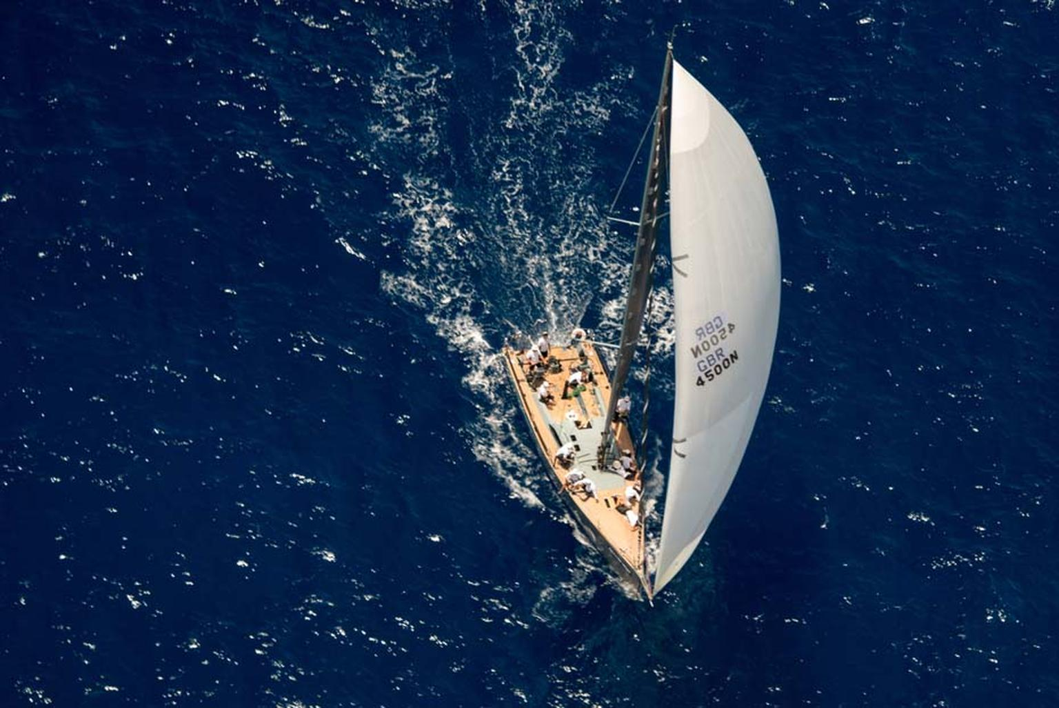 Jolt 2 sailing on a starboard tack in the French West Indies