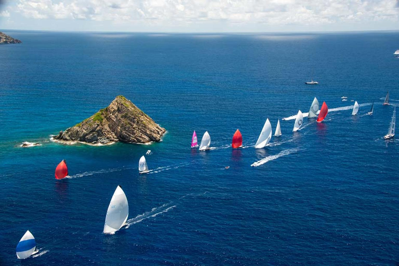Maria Doulton joined the sailors aboard the 45ft sailing boat Jolt 2, captained by Peter Harrison, CEO of Richard Mille Europe, as it participated in the Les Voiles de Saint Barth 2014 regatta