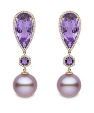 Hot hues: jewellers combine pearls with coloured gemstones for a modern take on a classic look