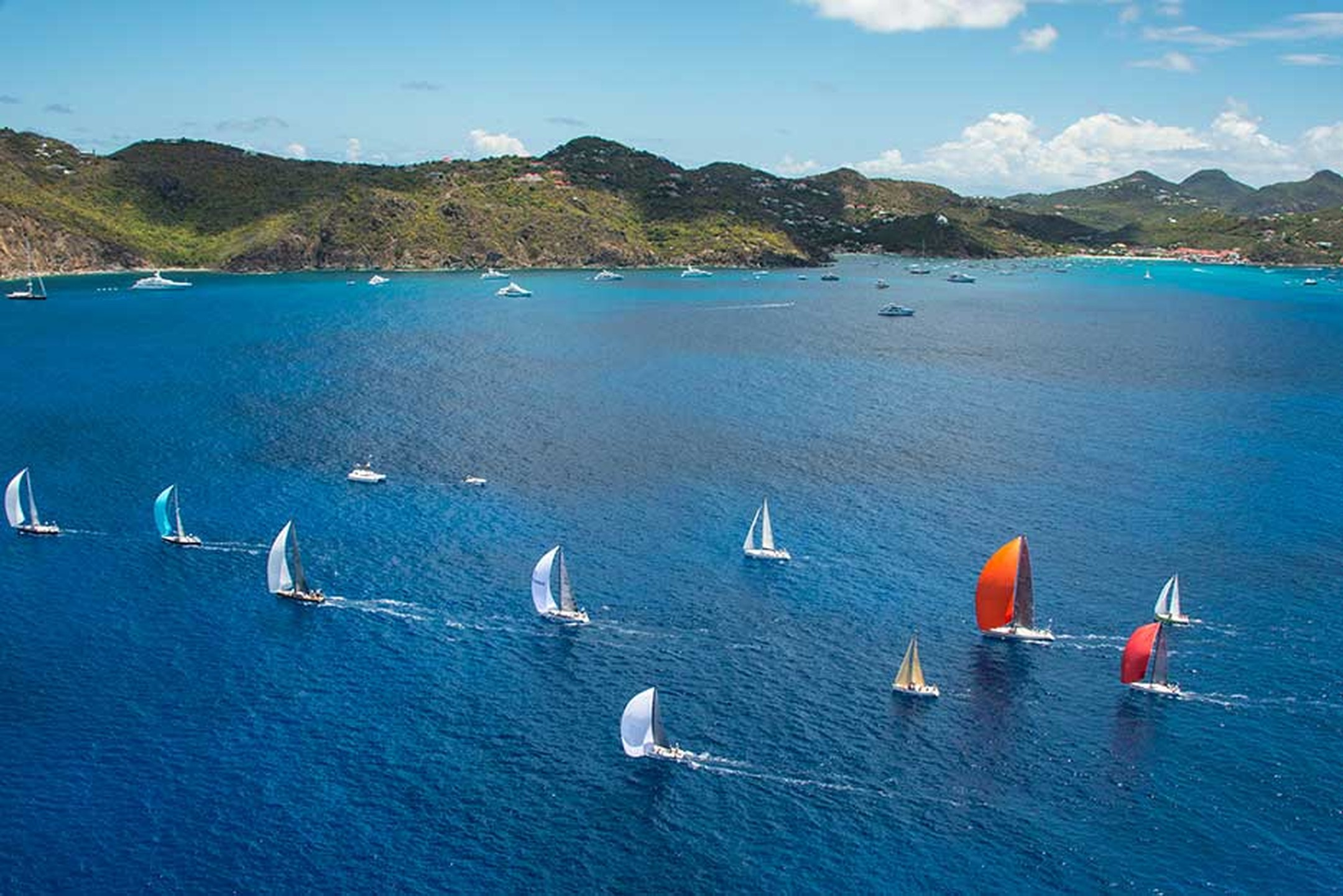 Maria Doulton filmed the sailors aboard the 45ft sailing boat Jolt 2, captained by Peter Harrison, CEO of Richard Mille Europe, as it participated in the Les Voiles de Saint Barth 2014 regatta