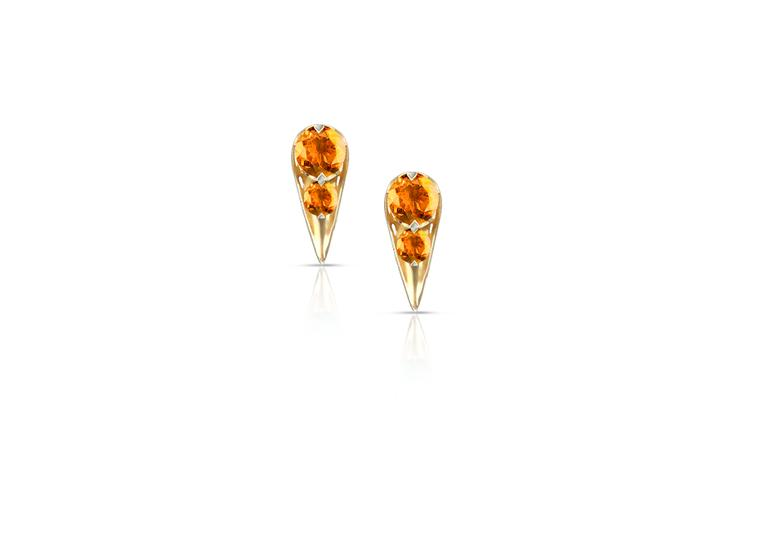 Phioro Acari earrings with citrine.