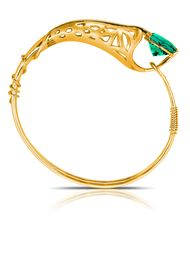Phioro jewellery Azalea bangle with green topaz.