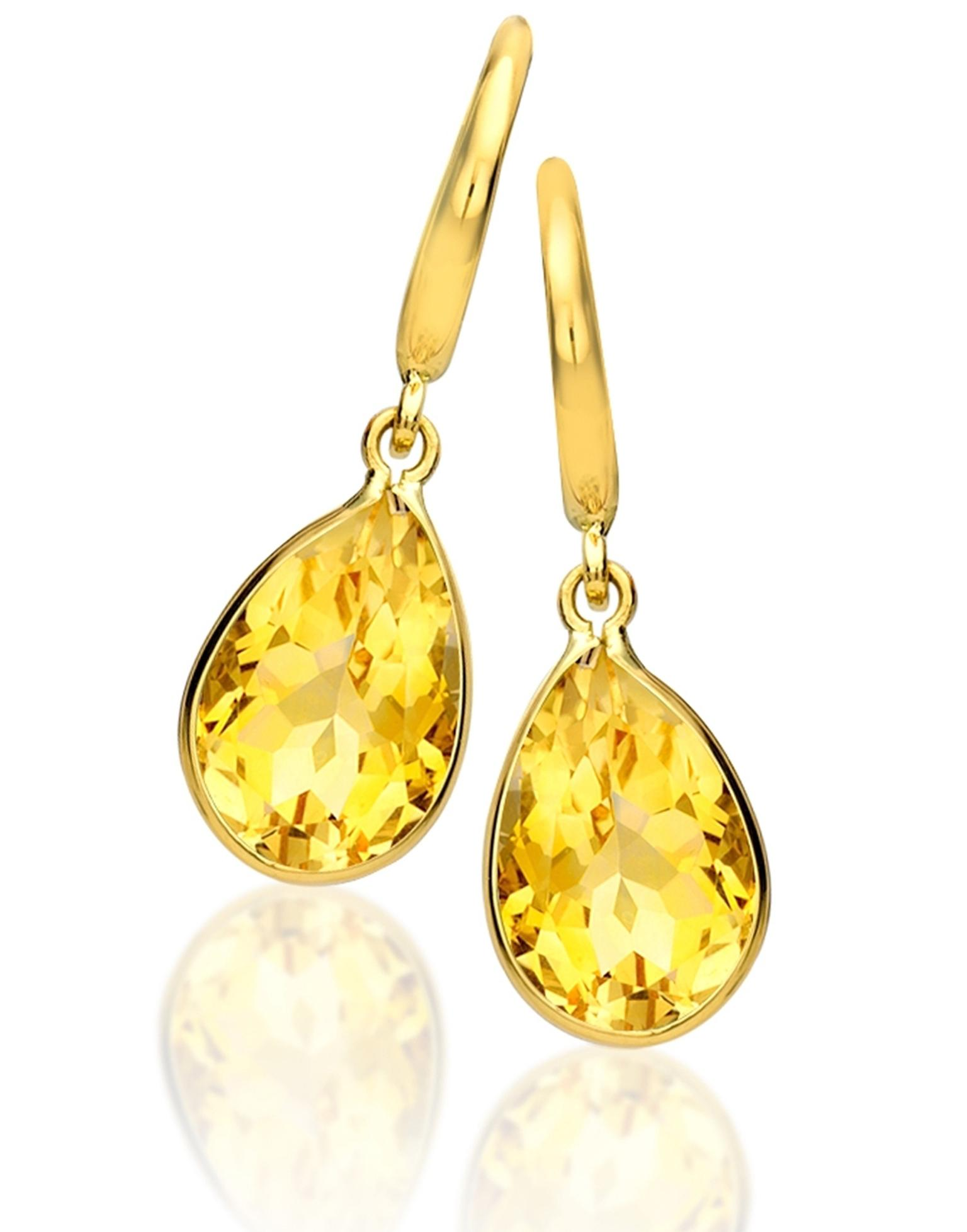 Kiki McDonough Kiki Classic earrings with citrine pear drops (£495)