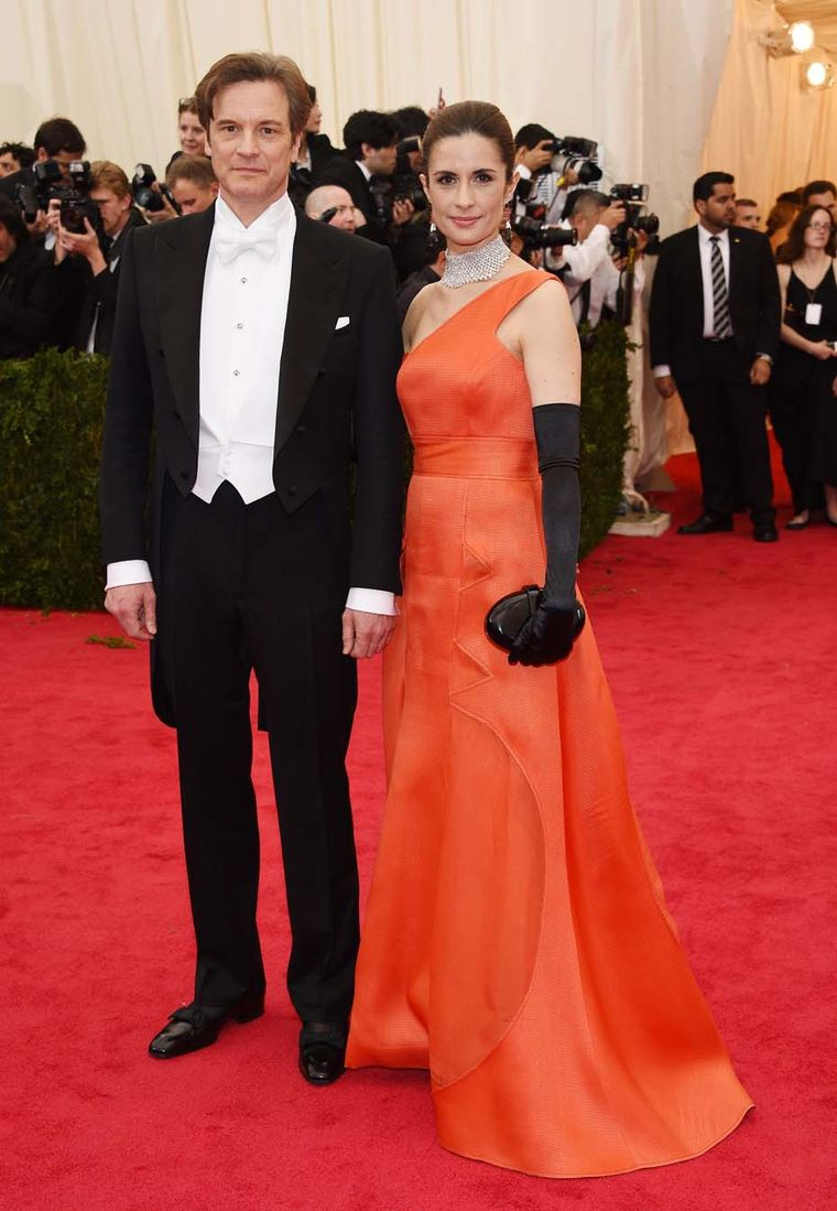 Flying the ethical flag was Livia Firth's husband, the British actor Colin Firth, who debuted Chopard's new L.U.C. Tourbillon GQ Fairmined watch - the world's first watch made of Fairmined gold - on the red carpet