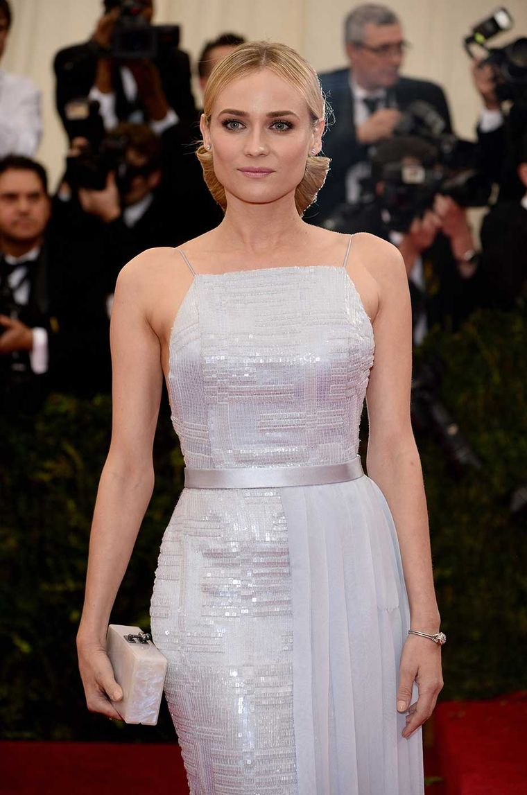 While the majority of celebrity wrists were adorned with bracelets, actress Diane Kruger kept her eye on the time at the Met Ball 2014 in a vintage Jaeger-LeCoultre 'Secret' jewellery watch, with a diamond flower pendant that opens to reveal a delicate wa